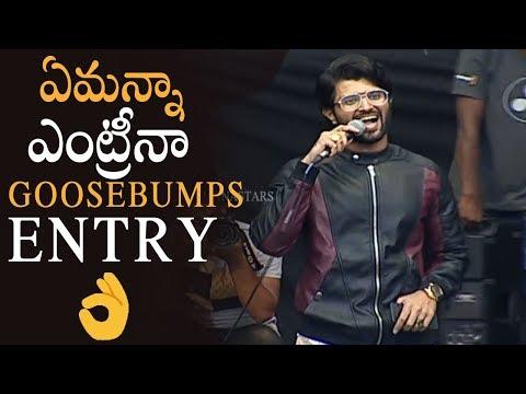 Vijay Devarakonda Goosebumps Entry With Mass BGM @ Rowdy Brand Launch | Manastars