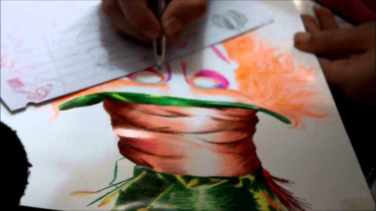 El Sombrerero Loco Dibujo con plumas  YouTube