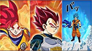 *NEW* SSG VEGETA , GOKU , AND SSB GOKU SUPER ATTACKS! | Dokkan Battle JP!