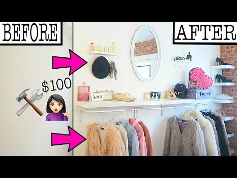 DIY WALL CLOSET MAKEOVER!