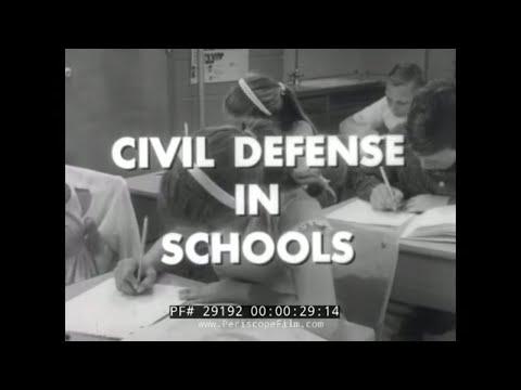 CIVIL DEFENSE IN SCHOOLS 1952 NUCLEAR WAR FILM 29192