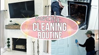 CLEAN WITH ME 2018 | Monthly cleaning routine