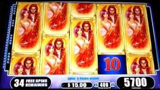 Fallen Angels JACKPOT Handpay Max Bet Bonus + Retriggers WMS Slot Machine