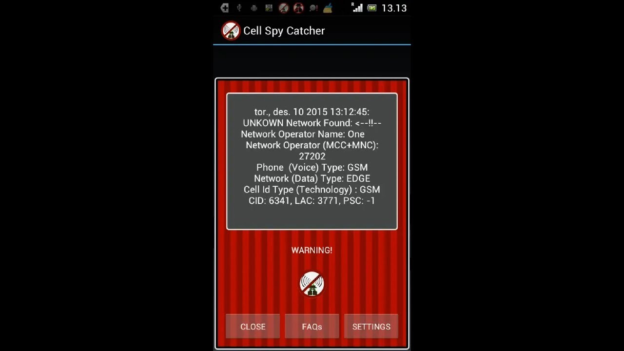 Protect Yourself From Fake Cell Towers, Silent SMS, & Stingrays 2018 Cell  Spy Catcher Anti Spy Andro