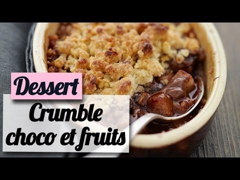 crumble-au-chocolat,-pommes,-poires-et-bananes---recette-dessert