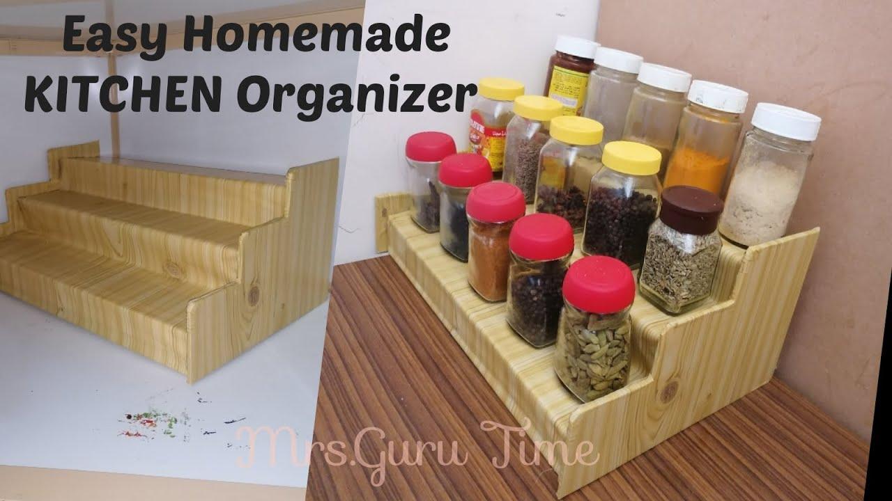 Diy Spice Organizer For Kitchen Easy Homemade Rack Budget Free Ideas Cardboard Youtube