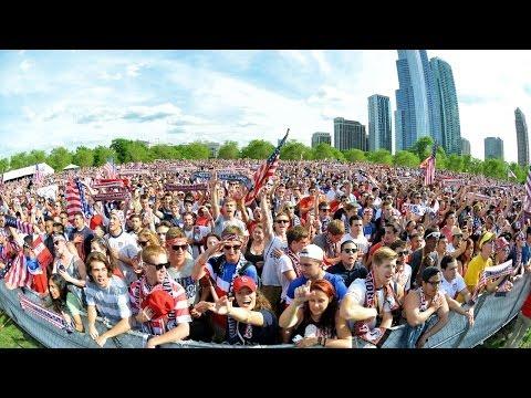 #USMNT Fans Watch USA Beat Ghana in Chicago