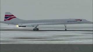 Take-off Concorde at PASY Shemya Island