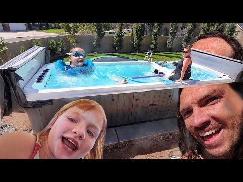 big-backyard-pool-spa-hot-tub-thing!!-adley-&-niko-best-day-ever-at-our-new-favorite-swimming-spot!