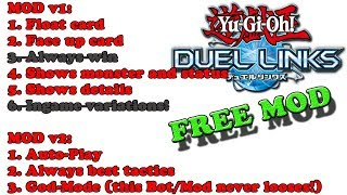 FREE! Yu-Gi-Oh! Duel Links 1.8.0 MOD APK | Always Win | Auto Play | Bot |Always Showing Cards &more!