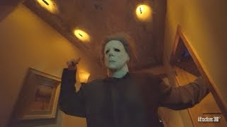 [4K] Halloween Michael Myers Maze - Highlights at Halloween Horror Nights 2018 Hollywood