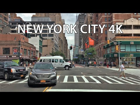 New York City 4K - Empire State Building - Driving Downtown USA