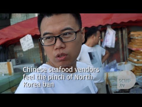 Chinese seafood vendors feel the pinch of North Korea ban