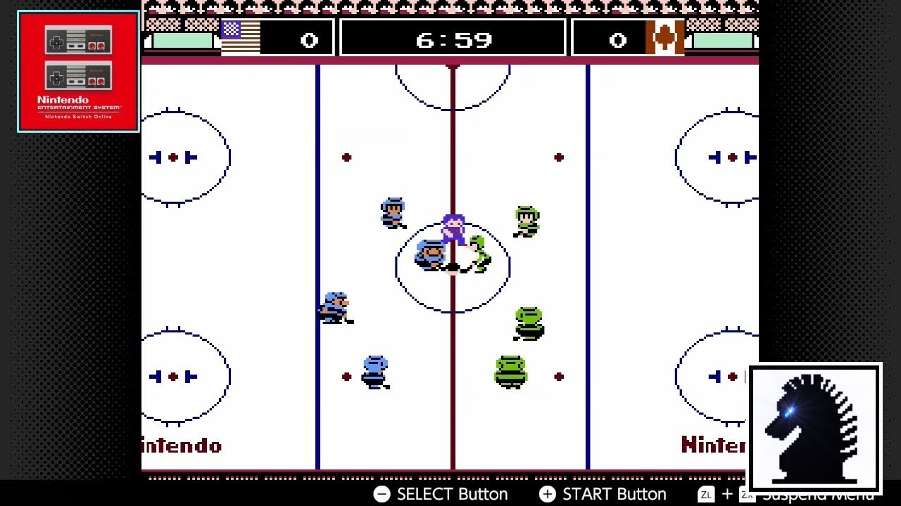 Ns Nes Nintendo Switch Online Ice Hockey Shiryu Usa Vs F81