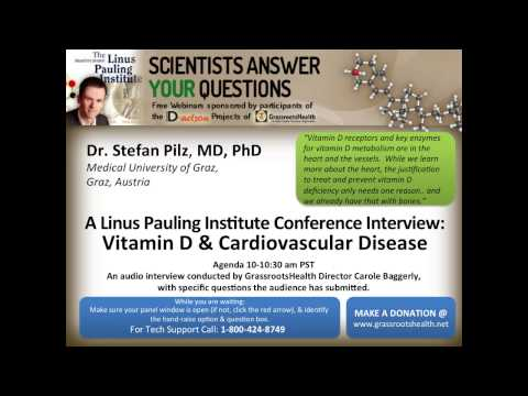 Dr. Stefan Pilz - Vitamin D and Cardiovascular Disease - Linus Pauling Conference Interviews