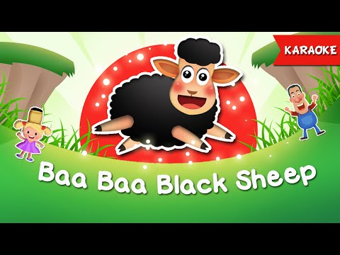 Baa Baa Black Sheep Karaoke with Lyrics   Nursery Rhymes   Funny Karaoke Songs for children
