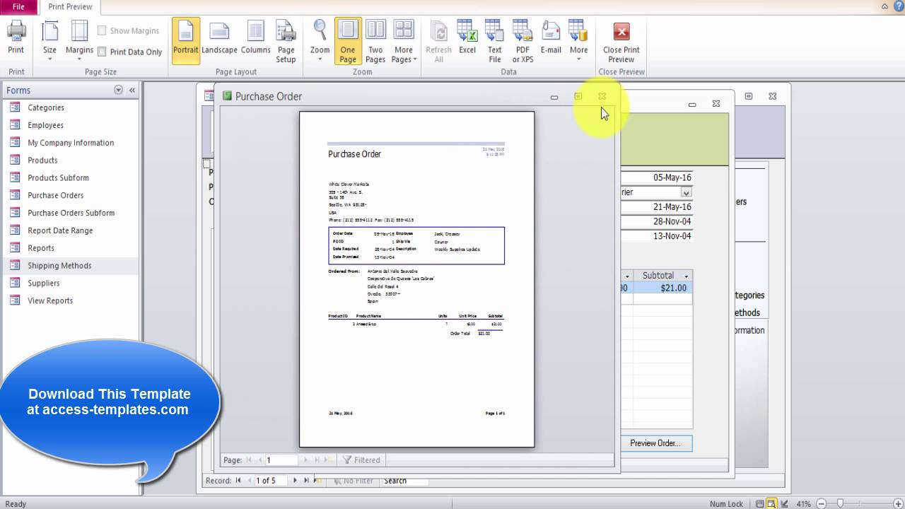 Microsoft Access Inventory Database - YouTube