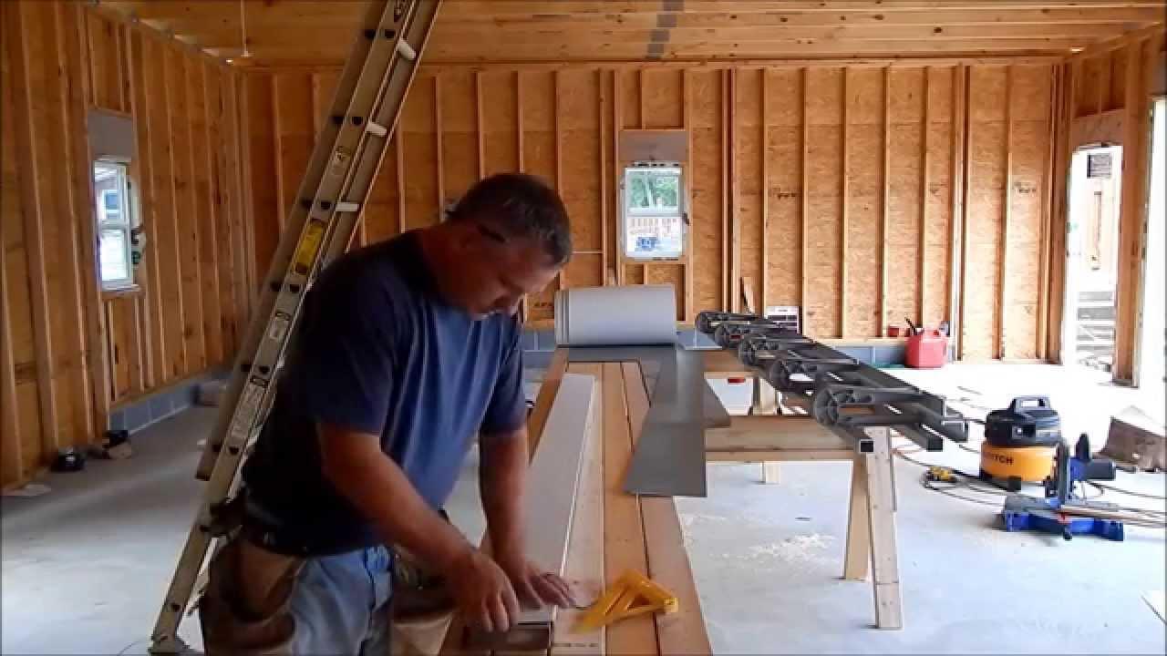 Garage build 3 installing aluminum sheet metal on door openings garage build 3 installing aluminum sheet metal on door openings youtube rubansaba