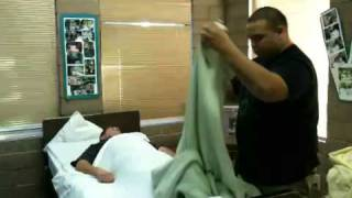 Cna Training- Making An Occupied Bed