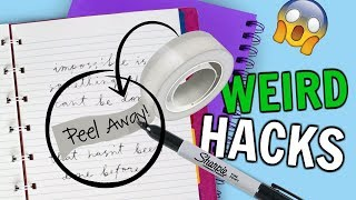 6 WEIRD SCHOOL DIYS + Hacks You