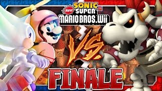 Sonic & Mario in New Super Mario Bros Wii - Co Op 100% - FINALE