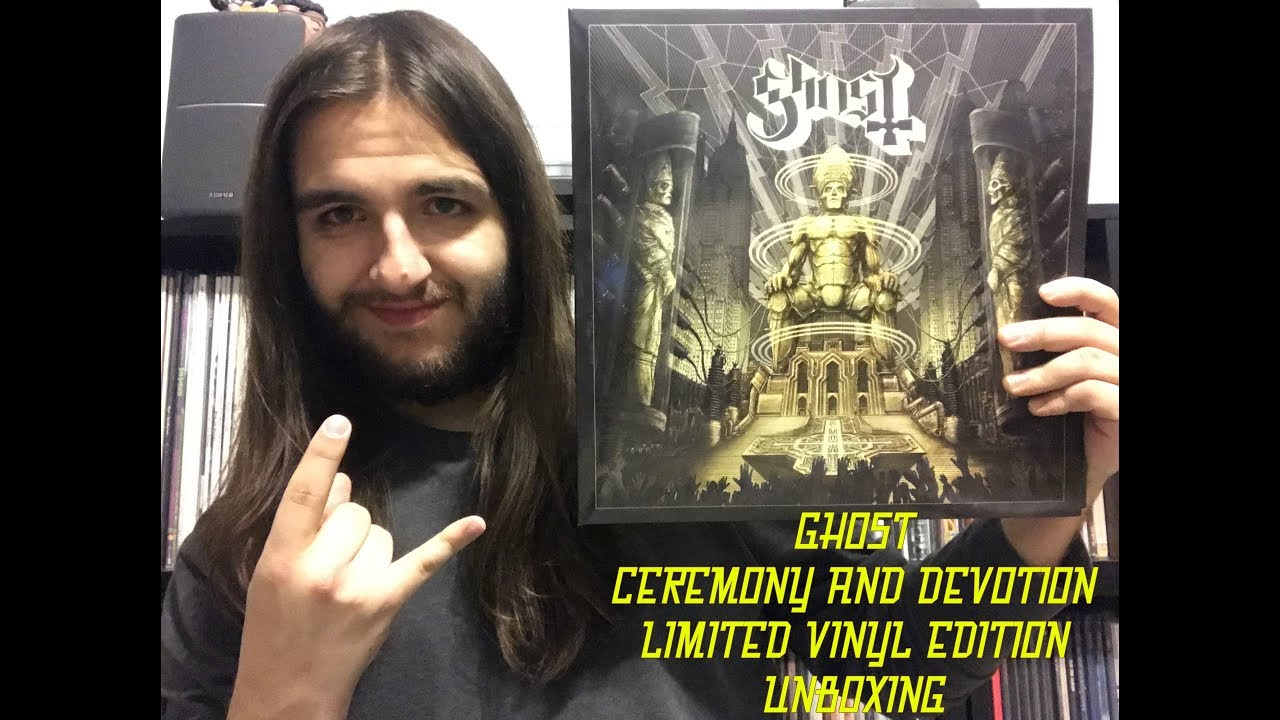 4294ac67e62 GHOST - CEREMONY AND DEVOTION  LIMITED VINYL EDITION  - UNBOXING ...