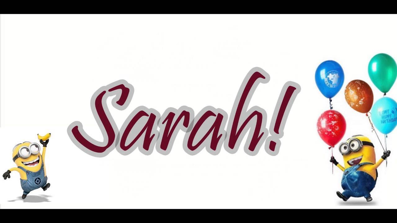 verjaardagsliedjes sarah
