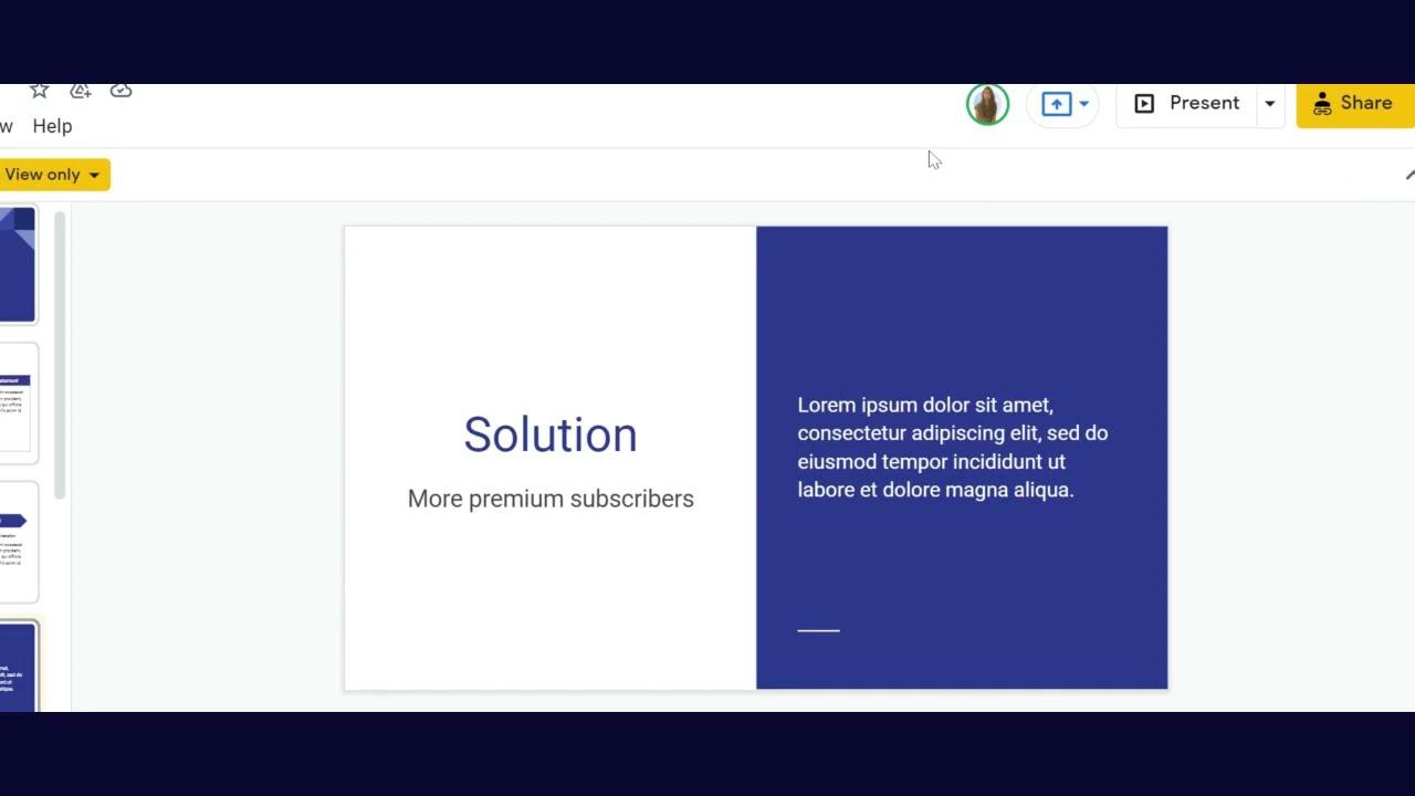How to zoom in a slide on Google Slides