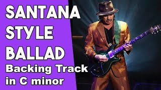 Carlos Santana Style Ballad Backing Track in Cm