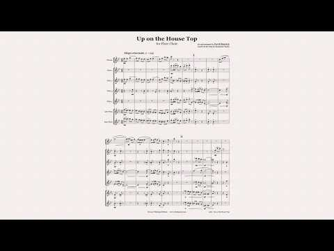 Up on the House Top for Flute Choir Christmas Sheet Music