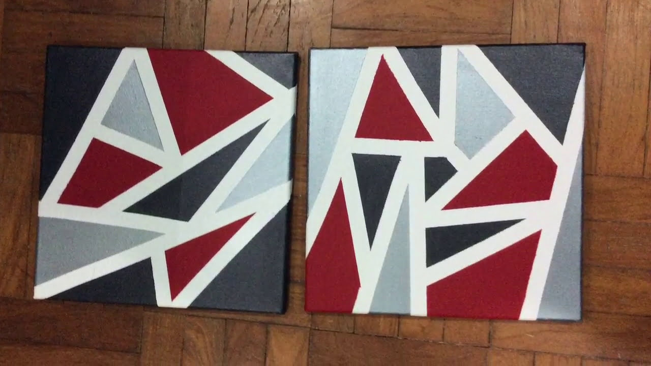 Tape Painting On Canvas For Beginners
