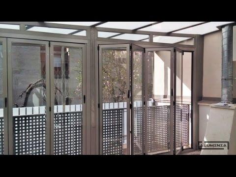 Puertas plegables cerramientos plegables aluminia - Puertas plegables de aluminio ...
