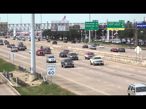 Houston Texas Skyline Interstate 45 Gulf Freeway