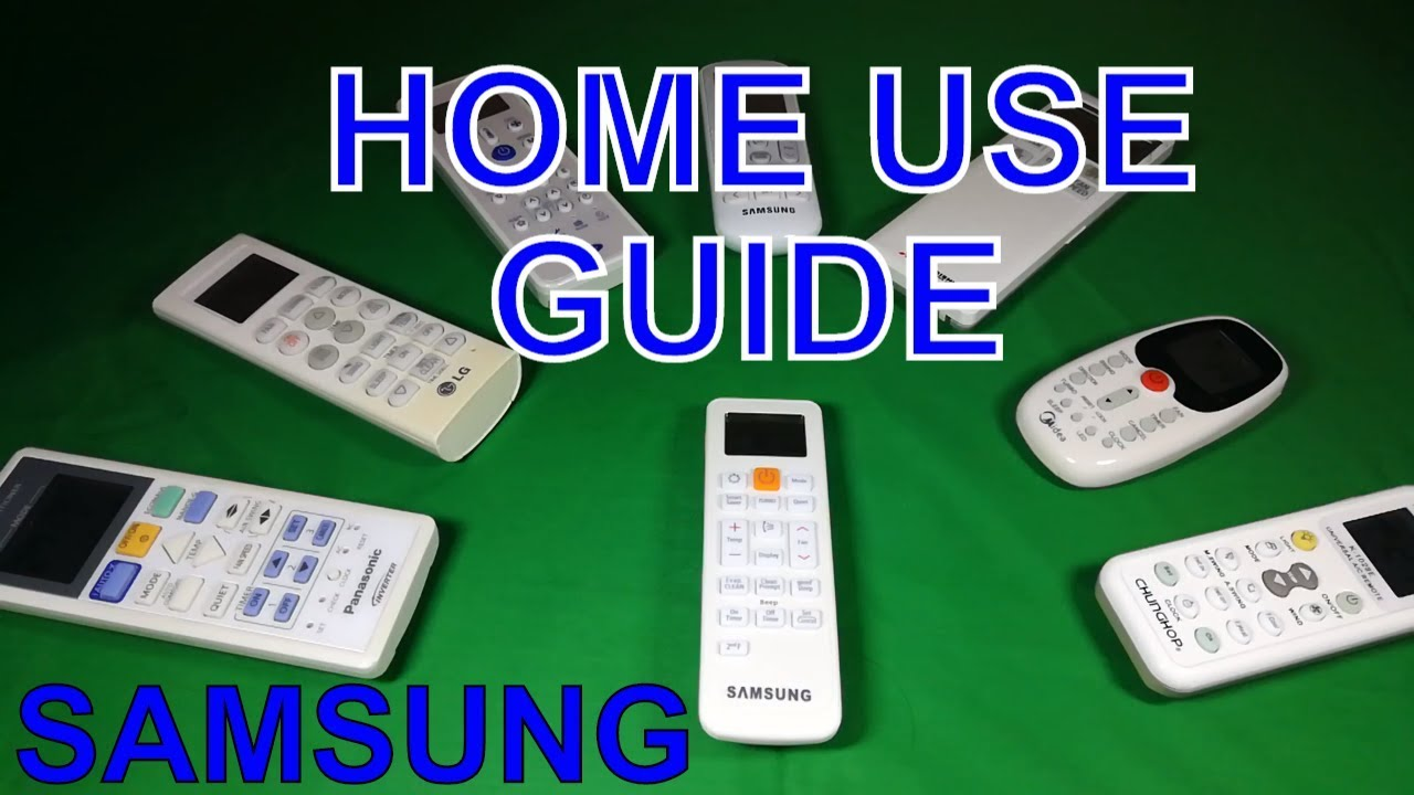 How to use Samsung AC remote control at the first time