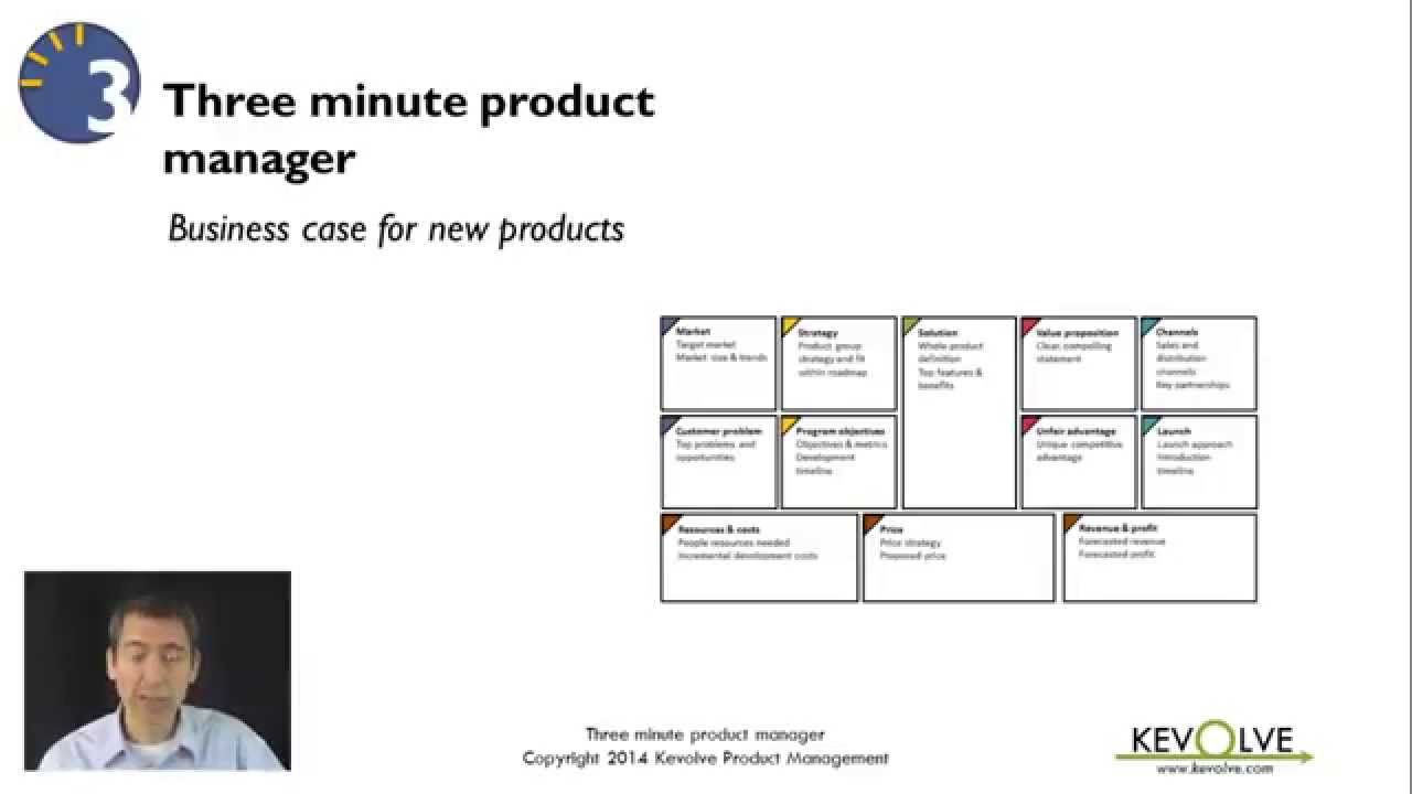 3 minute product manager business case for new products youtube accmission Images