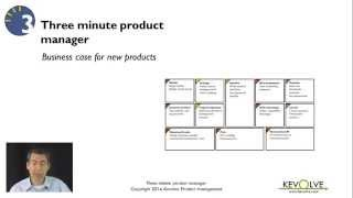 3 minute product manager business case for new products