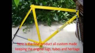 rossin vintage bicycle rebuilt, restoration custom made rossin italian steel bike.wmv