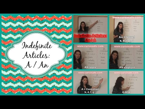 INDEFINITE ARTICLES: AN / A