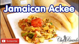 Fryup Jamaican Ackee  WITH COOK BREADFRUIT....vegan dish !!