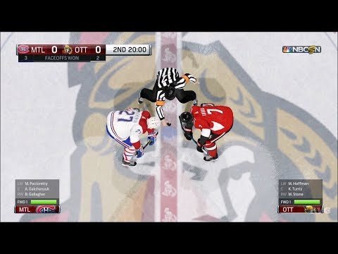 NHL 18 - Ottawa Senators vs Montreal Canadiens - Gameplay (HD) [1080p60FPS]