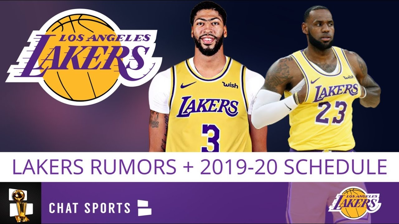 Lakers Schedule 2020.Lakers News Rumors On Anthony Davis To Knicks In 2020 Lakers 2019 20 Schedule 2020 Nba Mvp Odds