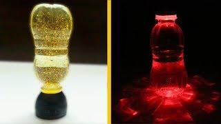 How to make LED Night Lamp using plastic bottles