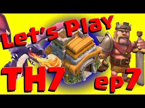 Clash of Clans: Let's Play TH7 - ep7 How to get Dark Elixir + Barbarian King