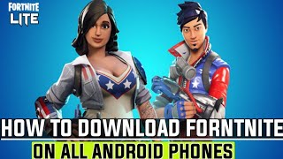 Fortnite Lite | How to download fortnite in all Android phones