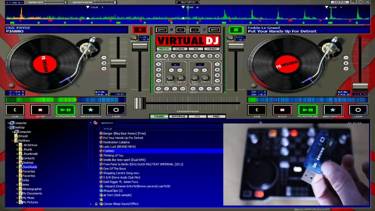 Free pc dj mp3 player download (Windows)