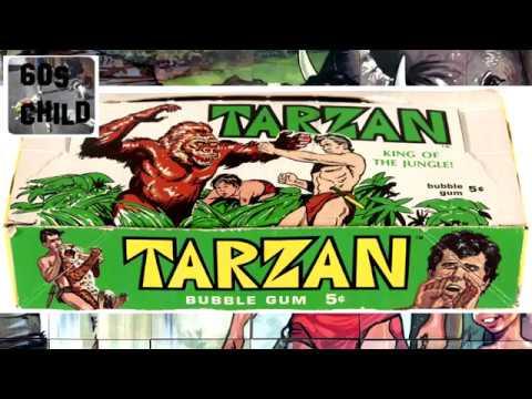 Tarzan bubble gum Cards 1960s based on Ron Ely tv Tarzan show