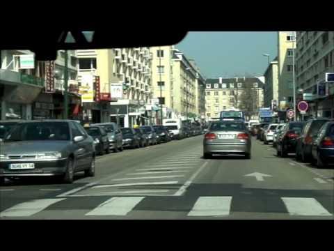 City driving: Caen, France フランスで運転 2009