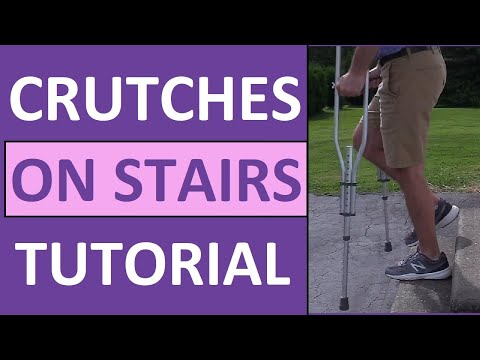 How to Go Up and Down Stairs on Crutches Nursing NCLEX Review