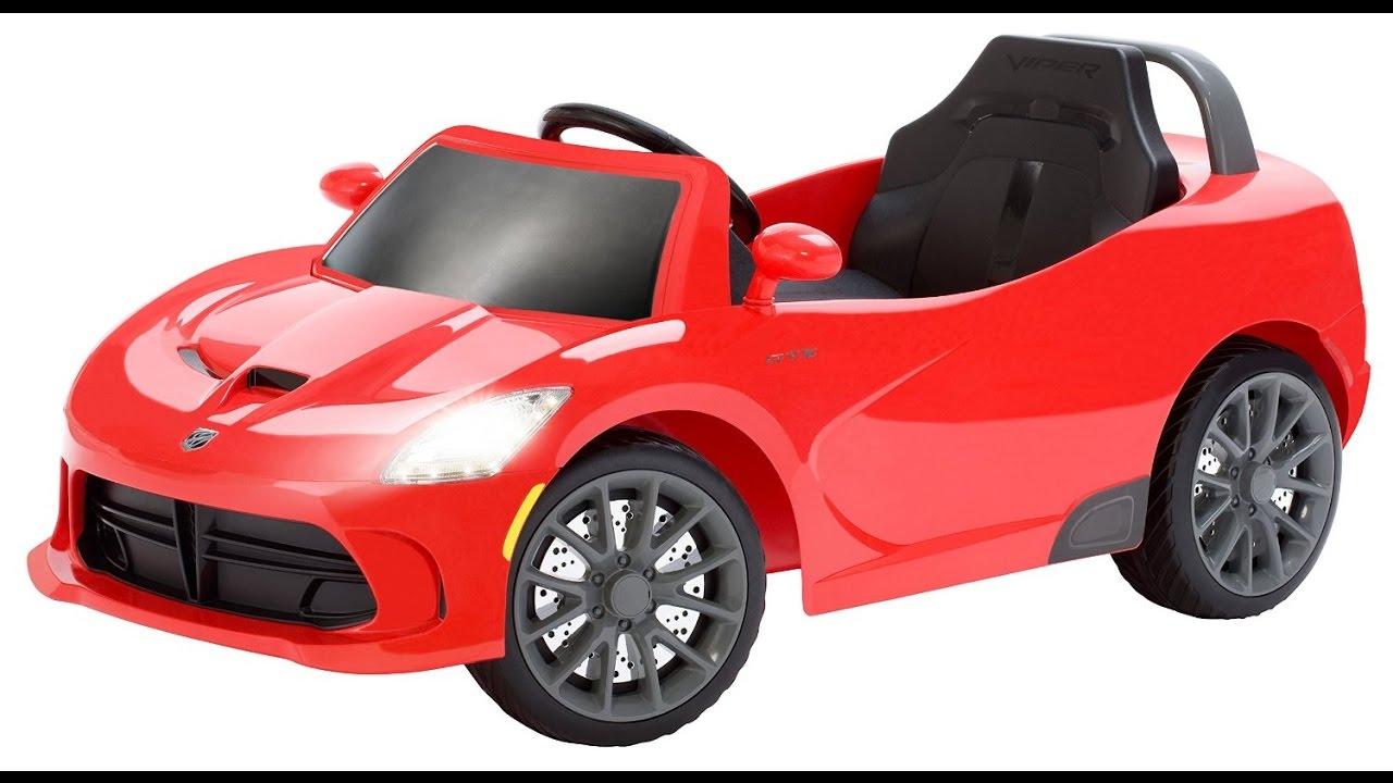 kid trax dodge viper srt 6v ride on car for kids