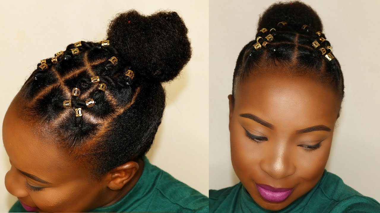 rubber band hairstyle for short hair | tondie phophi